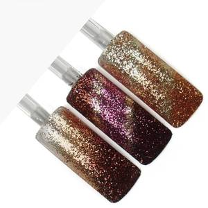 Herbst Glitzerpuder Set: Bronze, Braun, Creme, Bordeaux...