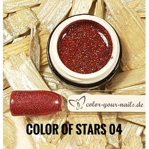 4ml Hologrammgel, Color of Stars Farbauswahl 04- maroon rot