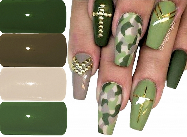 Military-Look Farbgele